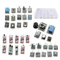 J34 Free Shipping 37 In 1 Ultimate Sensor Module Kit For Raspberry Pi For Arduino MCU