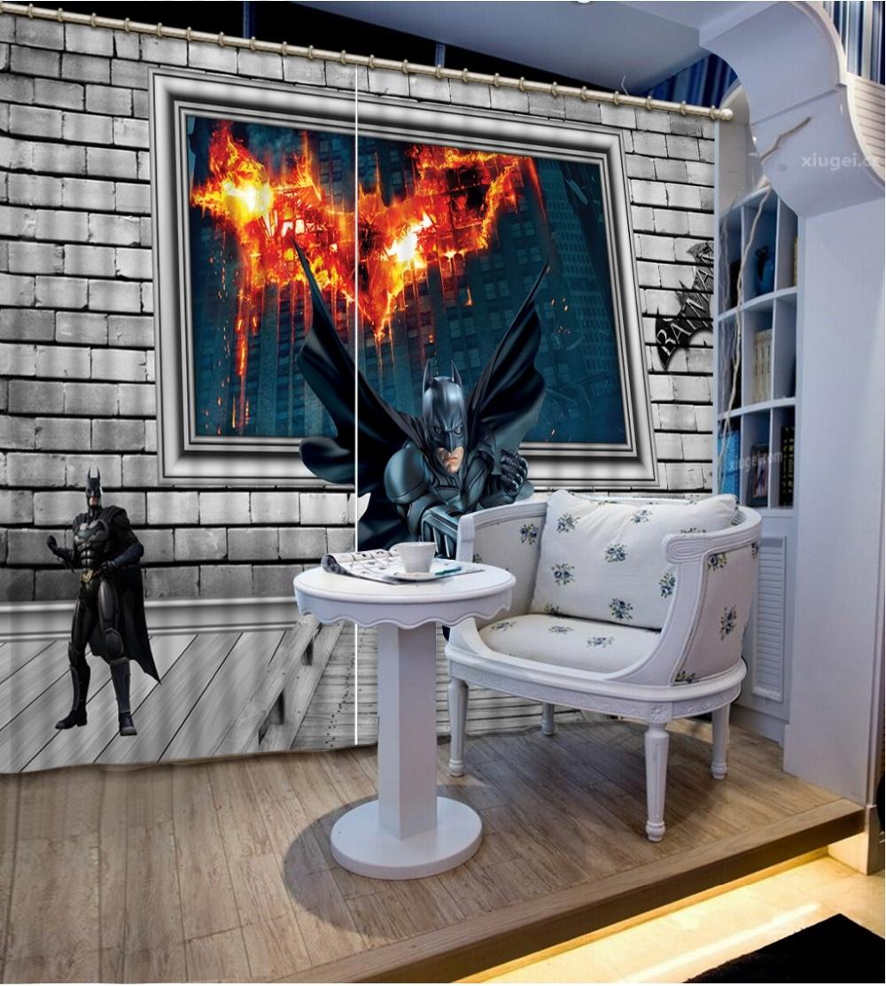 2016 Photo Personalizzare Il Formato Di Modo 3d Home Decor Bella Del Fumetto Tende Per Il Salone Elevato Standard Di Qualità E Igiene