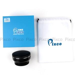 Image 4 - Pixco dla EOS M 4/3 reduktor ogniskowy wbudowany zestaw apertury do Canon mocowanie EF obiektyw do Micro 4/3 + osłona obiektywu u clip + paski do aparatu