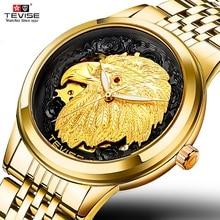 TEVISE זהב נשר אוטומטי יוקרה מכאני איש שעון 2020 עצמי רוח זוהר עמיד למים גברים שעונים 9006