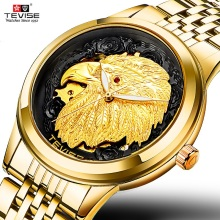 TEVISE Gold Eagle automatic watch Man Luxury Mechanical man watch 2020 Self Wind Luminous Waterproof men watches 9006