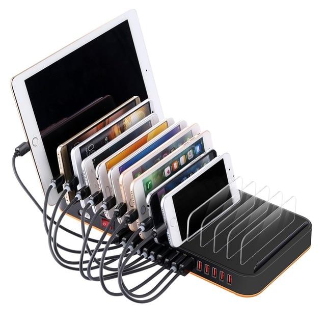 SZYSGSD الهاتف المحمول شاحن سريع 15 USB حامل محطة شحن ل فون ipad Xiaomi متعددة منافذ الهواتف الذكية شاحن الجهاز اللوحي 20A