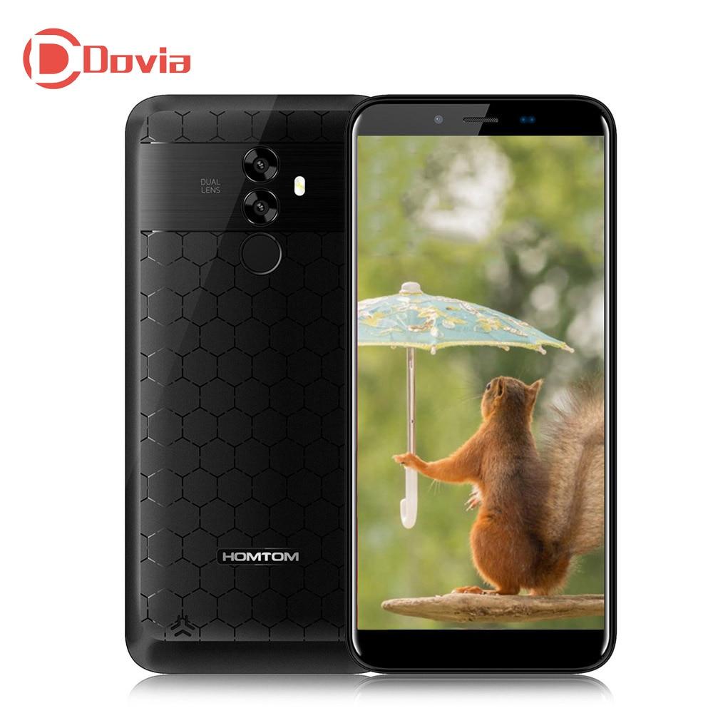 "HOMTOM S99 4G 6200mAh Mobile Phone Android 8.0 5.5"" MTK6750 Octa Core 21MP+2MP Dual Rear Cams 4GB+64GB Fingerprint OTG Cellphone"