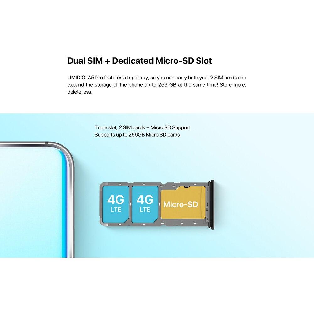 "HTB1DnaweLWG3KVjSZPcq6zkbXXag UMIDIGI A5 Pro Android 9.0 Octa-core 6.3"" Mobile Phone 16MP Triple Camera 4150mAh 4+32GB Global LTE 4G Fingerprint Smartphone"