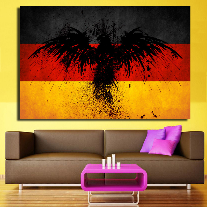 Wall Art Large Colorful Artwork Creative Ideas Germany Flag With ...