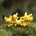 4 Pçs/lote Ir Mini Figura Brinquedos Adorável Pikachu Pokemon Modelo Crianças Brinquedos Anime Japonês Original Meninos Meninas Presentes de Segurança PVC figuras