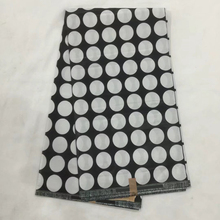 White &Black Dots Veritable batik fabric/ African indonesian fabric/ankara print fabric for clothing LS-513