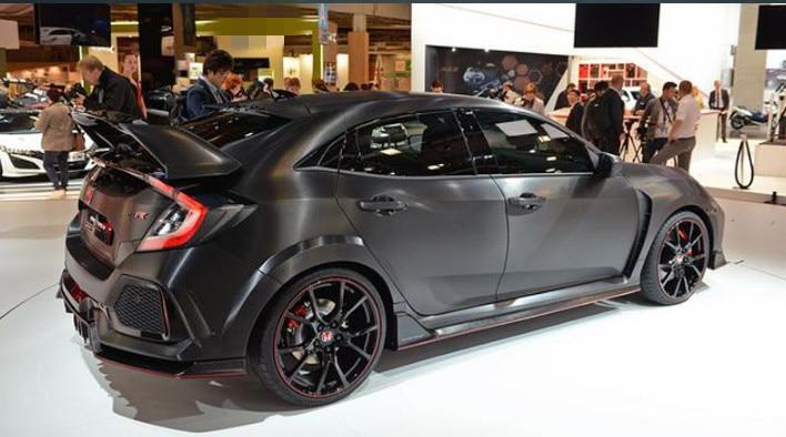 Becquet de coffre arrière de couleur de peinture en plastique ABS de Style type-r pour Honda Civic Hatchback 2017 2018 2019 - 5