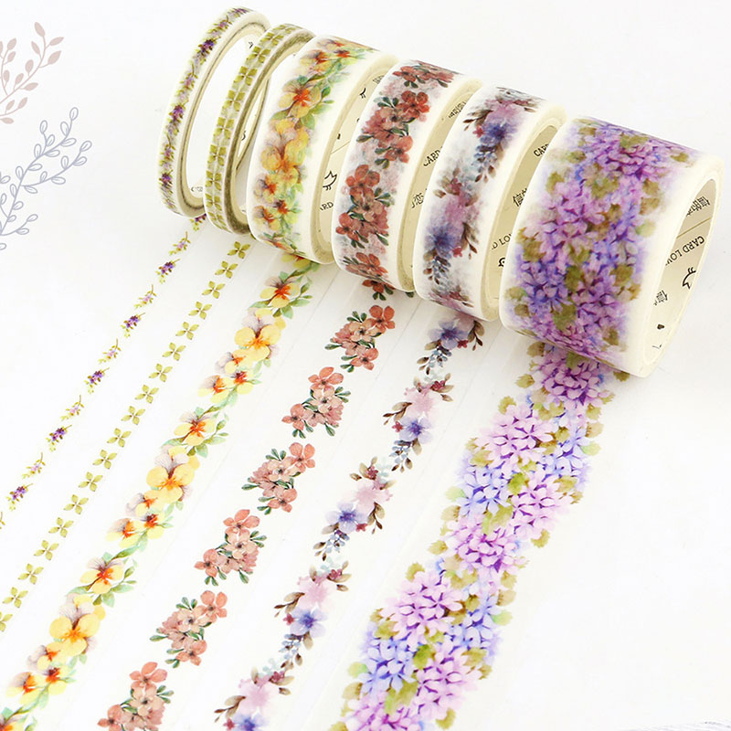 Cute kawaii flower masking washi tape decorative adhesive tapes for decoration scrapbooking Free shipping 3485 diy cute kawaii lace flower adhesive washi tape decorative tape for home decoration photo album free shipping 3483