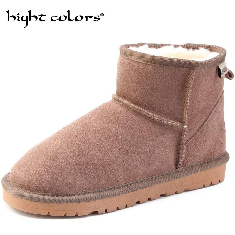 Shoes Just New Fashion Men Winter Shoes Solid Color Snow Boots Plush Inside Antiskid Bottom Keep Warm Boots Size 41-47 Black Brown Grey Snow Boots