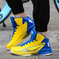 Men S Basketball Shoes Air Damping Men Sports Sneakers High Top Breathable Trainers Leather Shoes Men