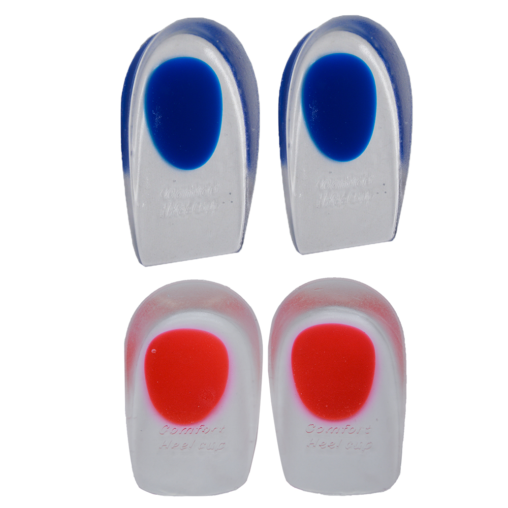 1Pair Ortopædiske Insoles Silicon Gel Heel Pude Insoles Soles Relieve Plantar Fasciitis Beskyttere Heel Spur Support