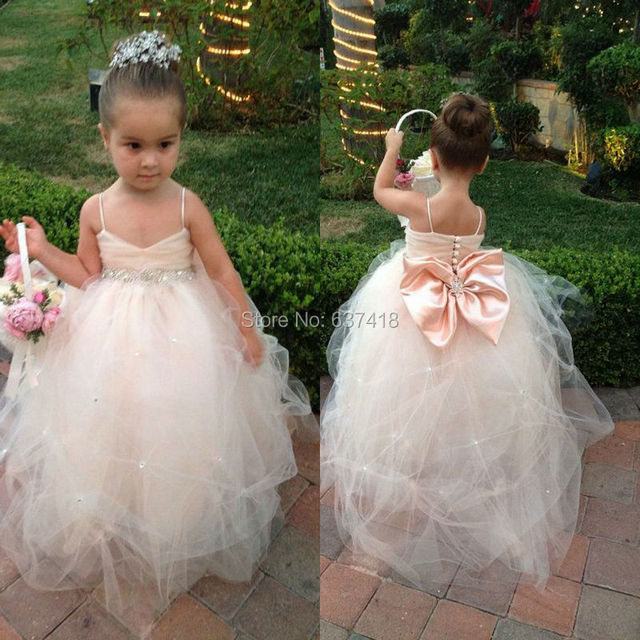Champagne Toddler Flower Girl Dresses