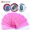 12.5*6.5 cm Plástico Insípido Nail Art Sello Plantilla Estampación Placas de Uñas Ambiental para pegatinas de Color Rojo 11-20