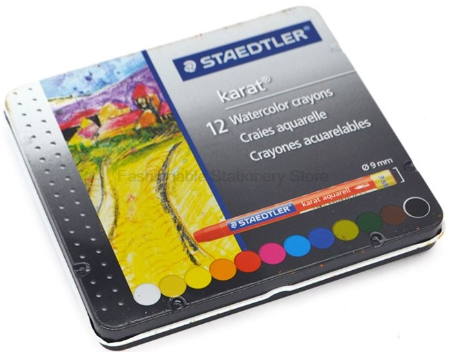 STAEDTLER 223 M|12 12 color Round Shape 95x9mm Oil Pastel for Artist Students Drawing Pen School Stationery Art Supplies bgln thick color artist 24 color oil pastels set round shape oil pastel crayon sticks 24 colors set school stationery