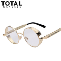 Total gothic sunglasses men steampunk round metal frame sun glasses pink mirror eyewear brand designer high.jpg 200x200