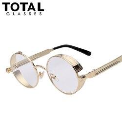 Total gothic sunglasses men steampunk round metal frame sun glasses pink mirror eyewear brand designer high.jpg 250x250