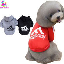 DOGBABY Sport Style Dogs Hoodies Autumn Winter Pet Clothing For Yorkshire Terrier Dogs 100% Cotton Cat Clothes  Warm Dog Outfit