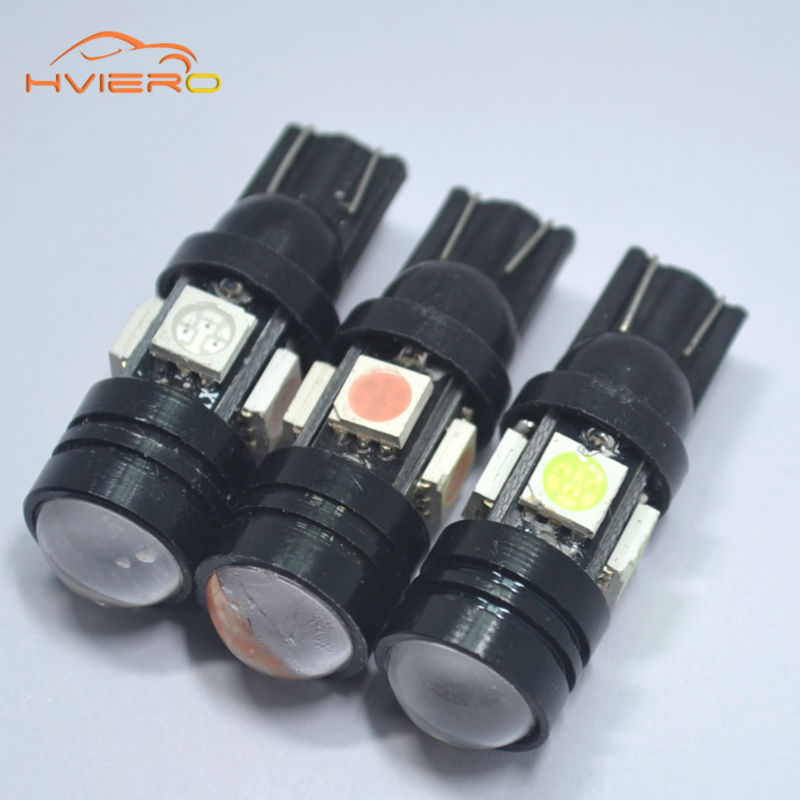 10pcs 168 192 T10 W5W LED 4SMD 5050 1.5W High power Super Bright Car Bulbs Auto Lamp width lamp license plate Lens Light scatter 1pcs super bright t10 canbus w5w 5050 13 smd car led white error free light bulbs parking trunk light license plate lamp dc 12v