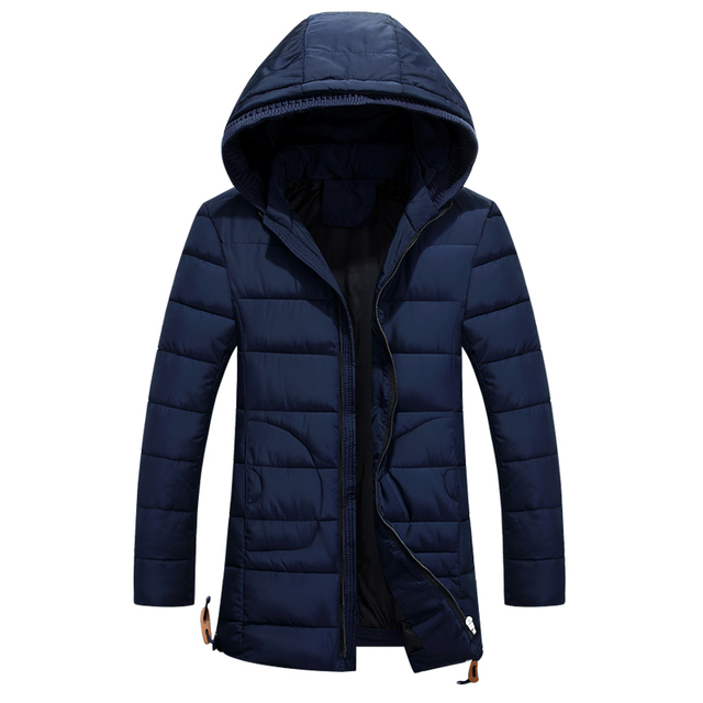 2016 New Men's Down Jacket Solid Colors Autumn And Winter Jacket Men Velvet Down Hooded Thick Clothing Male Casual Zipper Coats