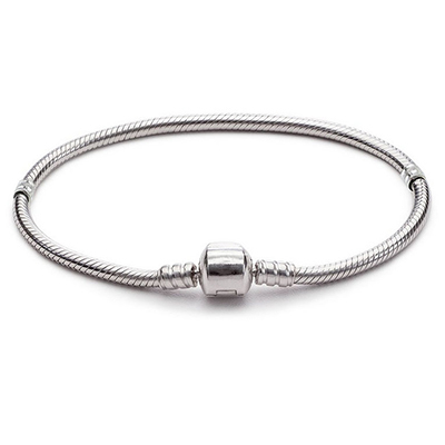 Chamilia Bracelets Snake Chain Jewelry Bracelet For European Murano Beads DIY Troll Czech Glass Bead 01
