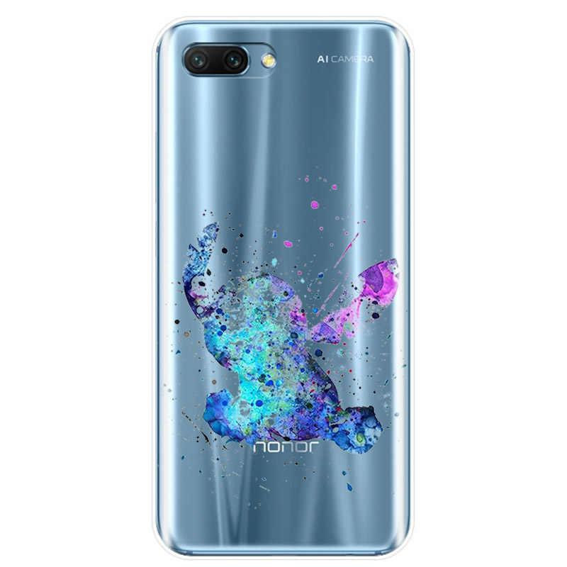 Aquarela Tinkerbell Sereia Veados Princesa Capa TPU Caso de Telefone Para Huawei COMPANHEIRO 7 8 9 10 20 pró Honra 8 9 10 V10 NOTE10 lite