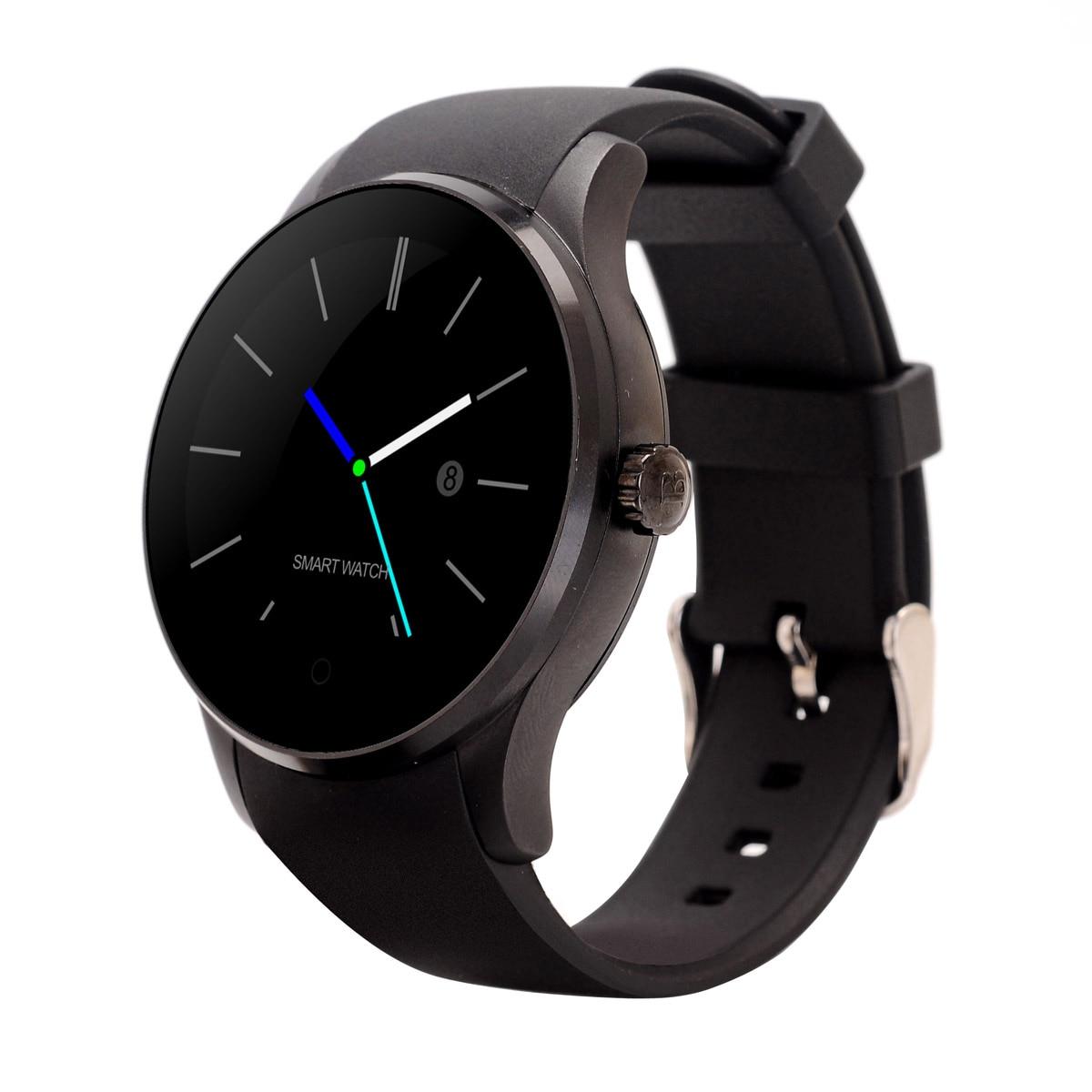 MTK2502 Round Bluetooth font b Smartwatch b font K88S Smart Watches Heart Rate Monitor Clock Phone