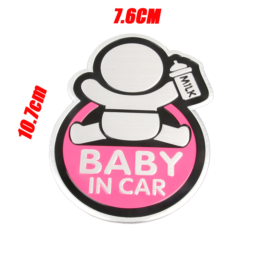 Image 3 - Baby IN CAR Warning Decal 3D Sticker Reflective Waterproof Car Stickers For Mazda Ford Chevrolet Cruze Kia Skoda Audi BMW VW-in Car Stickers from Automobiles & Motorcycles