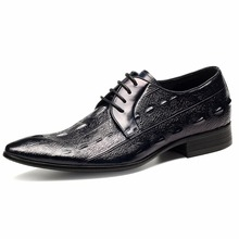 Hot Mens Business Dress 100% Cow Genuine Leather Shoes British Handmade High Quality Breathable Calf Pointed