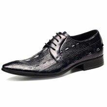 Горячие Для мужчин; платье в деловом стиле 100% Корова Пояса из натуральной кожи Обувь Британский Для мужчин S ручной работы Высокое качество дышащие телячьей кожи обувь с заостренным носком