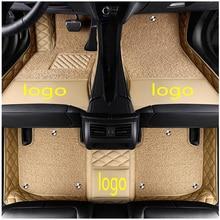 Автомобильные коврики с логотипом на заказ для Mercedes Benz CLS w218 w219 63 amg 220 250 260 300 320 400 500 кожаные нескользящие ковровые покрытия