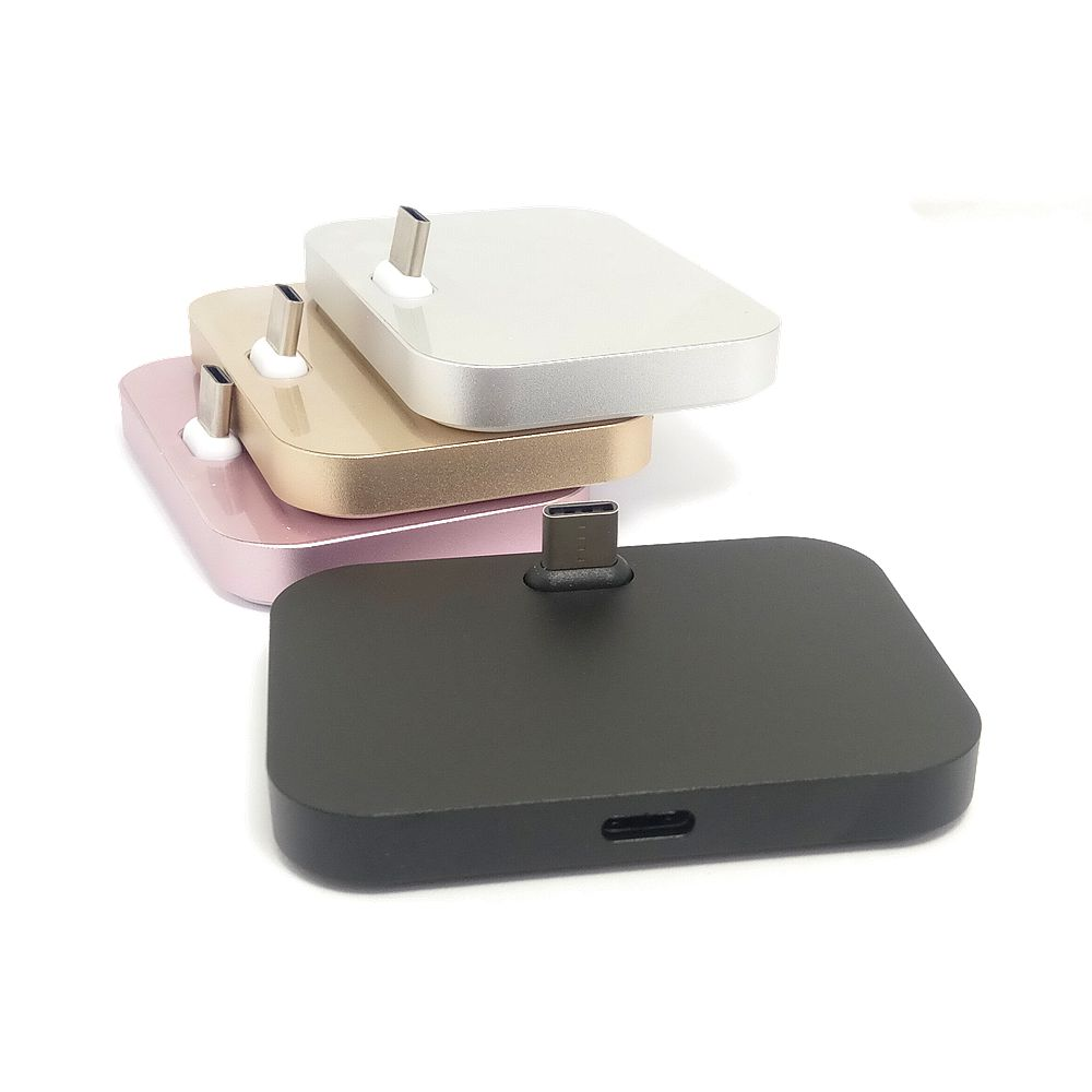 Aluminum alloy USB Type C Dock Charger Data&Sync USB C Charger Dock Station Stand Cradle for Huawei Sony HTC USB Type-C Desktop
