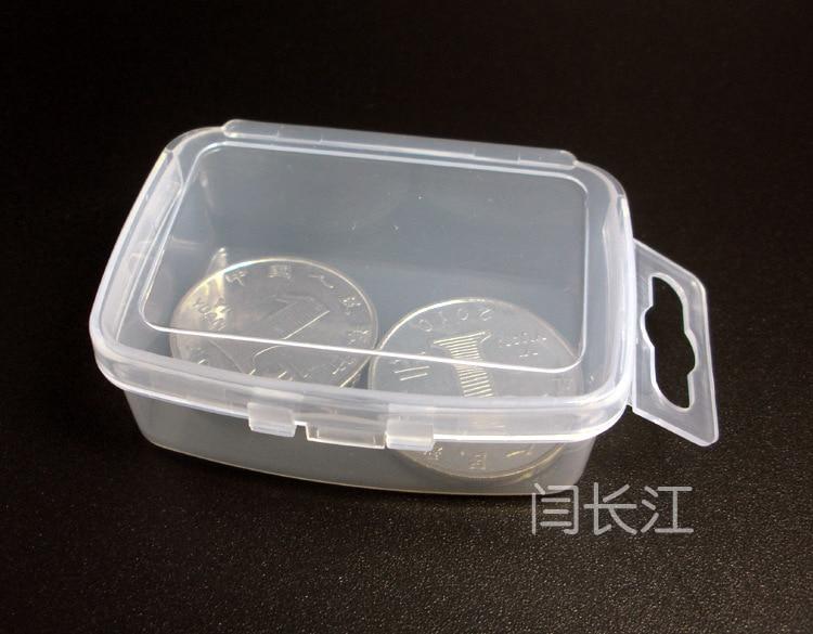 R671 Small Rectangular Plastic Box Transparent Box Parts Box Pp