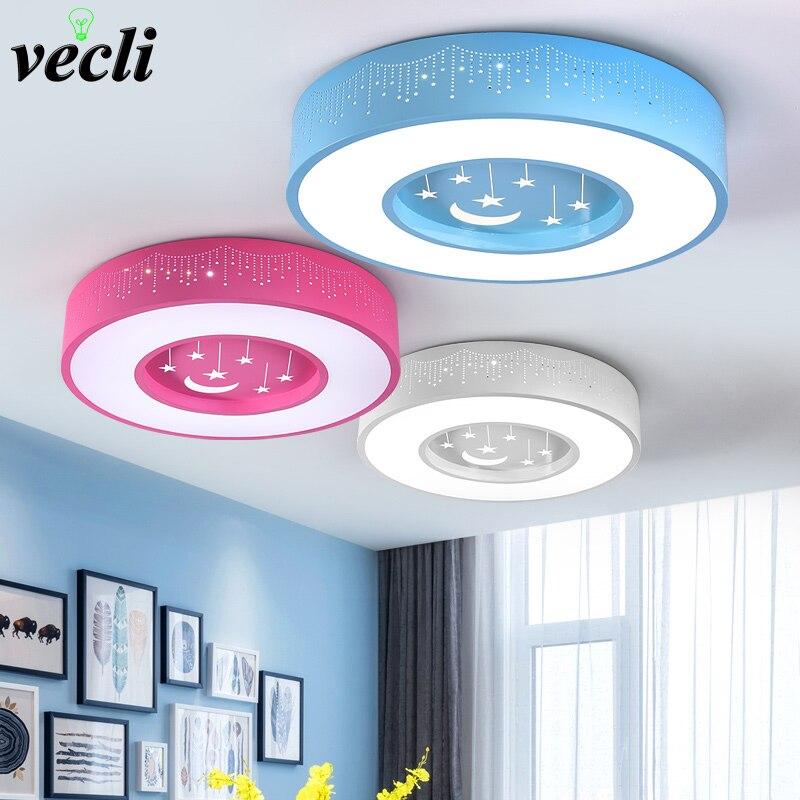 어린이 방 천장 조명 소년 소녀 아기 침실 카톤 램프, 85-265V 24W 창조적 인 원형 장식 주도 천장 조명