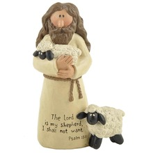 Home Decoration Accessories Communion  gifts Holy Crucifix Jesus Lamb of God Good Shepherd Miniatures with Incription Catholic