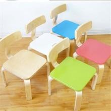 Детское кресло детский сад квадратная из плотной древесины стул детская мебель горячая новинка качество