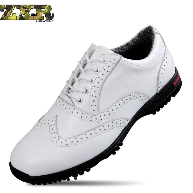 Golf Shoes Professional Genuine Leather Waterproof Golf Shoes For Men Good Quality Breathable Shoes Slip Resistant Sports Shoes golf shoes women golf shoes golf cowhide slip resistant waterproof sport shoes genuine leather rubber sole
