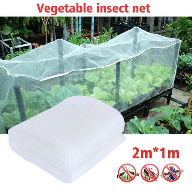 2mx1m Insect Mesh Netting Garden Fruit Vegetables Insect Net Protection  Plant Covers For Tree Greenhouse Pest