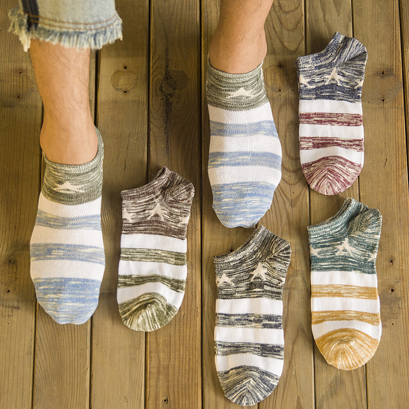 Underwear & Sleepwears 2019 New Hot Sale Cotton Stripe Harajuku Hip Hop Casual Sox Long Skateboard Socks Mens Street Boat Sock For Male 3wz017