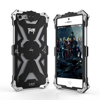 Luxury Shockproof Metal Aluminum Case For Iphone 5 5s 5c Thor Ironman Armor Design Cell Phone