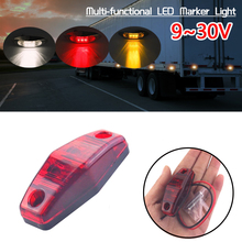 1 pc12v 24V Amber Truck Led Side Marker Lights For Trucks Universal Side Indicator Clearance Marker Lamp Trailer Bus Auto Car цена 2017