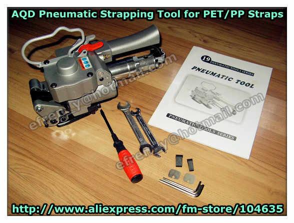 Гарантия 100% новая AQD-19 портативная Пневматика ПЭТ/пластик ручной обвязочный инструмент для 13-19 мм ПЭТ/ремешок (натяжение> = 3500N)