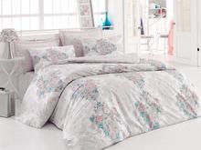 Комплект постельного белья двуспальный-евро cottonbox, белый, с узором