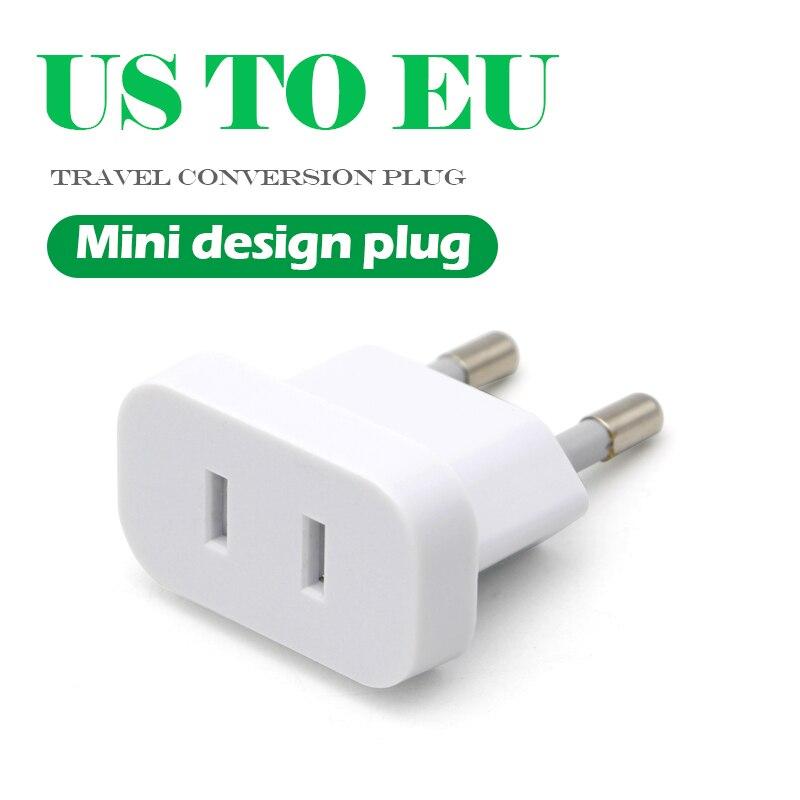 2Pcs Travel Charger Adapter Converter US USA to EU Europe  Wall AC Power Plug