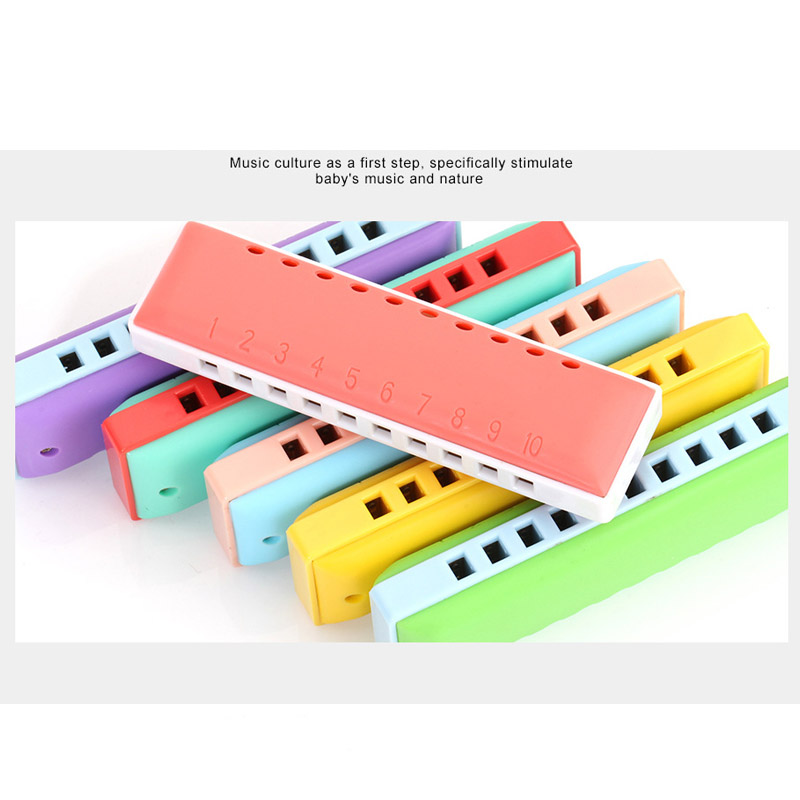 Купить с кэшбэком KONGSHENG Blues 10 Holes C Key Harmonica Kids Musical Early Educational Toy Children Musical Toy for Beginner 3-4-5 years old