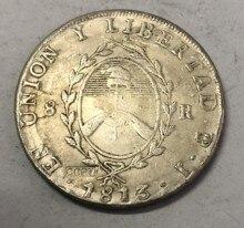 1813 argentyna 8 Reales Provincias plated srebrny kopia monety