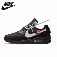 NIKE X OFF WHITE AIR MAX 90 OW Men Running Shoes Air Cushion Breathable Outdoor Sports Sneakers#AA7293