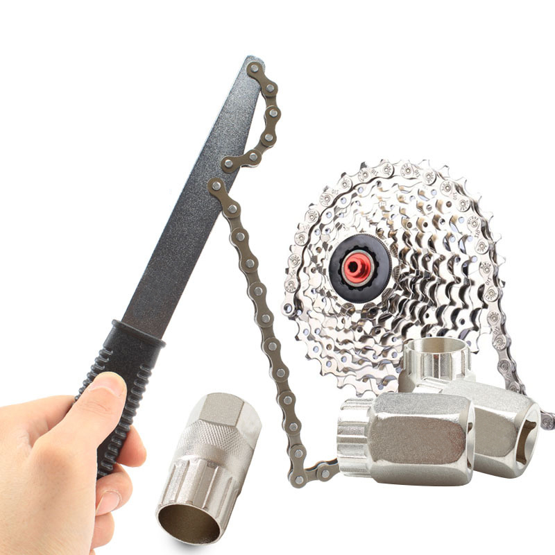 Bicycle Cassette Freewheel Remover Turner Sprocket Disassembly Removal Tool Wrench Chain Whip MTB Road Bike Repair Tools RR7255