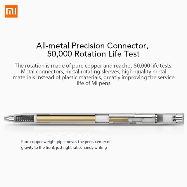 Xiaomi Mijia Pen with 0.5mm Swiss Refill Sign Pen 143mm Rolling Roller Ball Mi Xiomi Sign Signing Ballpoint Pen 2 4