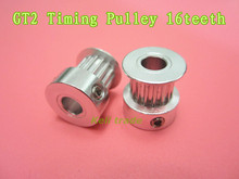 3D Printer GT2 Timing Pulley 16teeth ( 16 teeth ) Alumium Bore 5mm fit for GT2 belt Width 6mm 16 teeth GT2 Timing Pulley(China (Mainland))